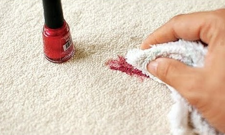 How to remove carpet cosmetic stains